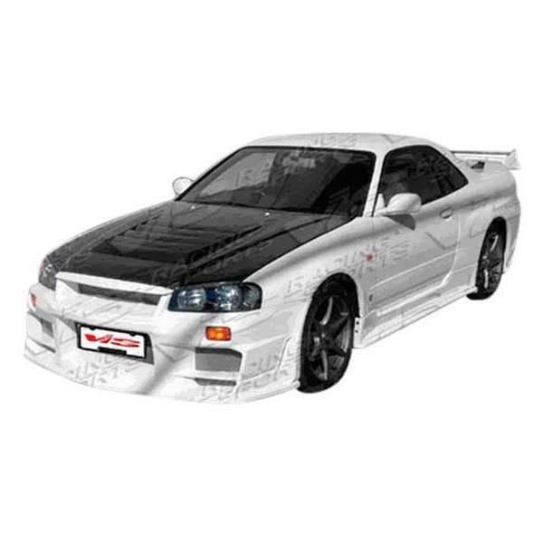 VIS Racing - Carbon Fiber Hood OEM Style for Nissan SKYLINE R34 (GTS) 2DR 99-01
