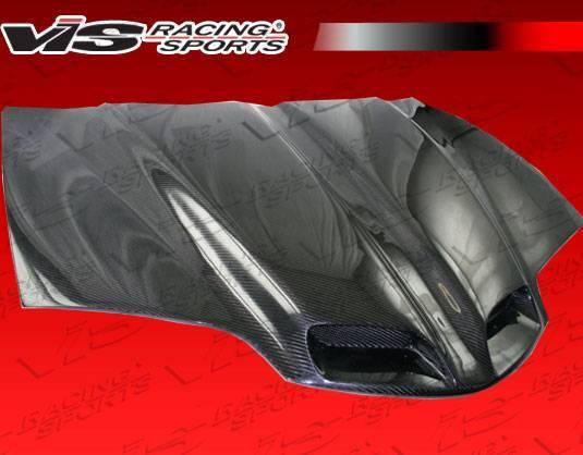 VIS Racing - Carbon Fiber Hood GTO Style for Pontiac Trans AM 2DR 98-02