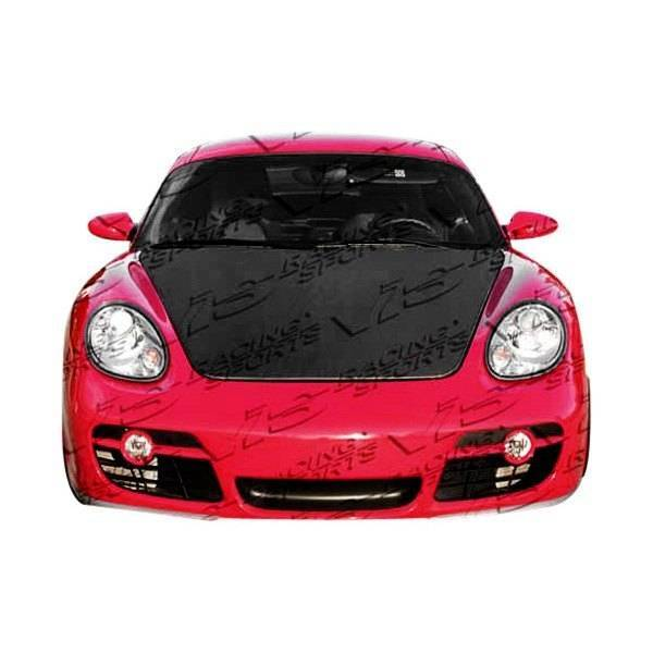 VIS Racing - Carbon Fiber Hood OEM Style for Porsche Cayman 2DR 06-12