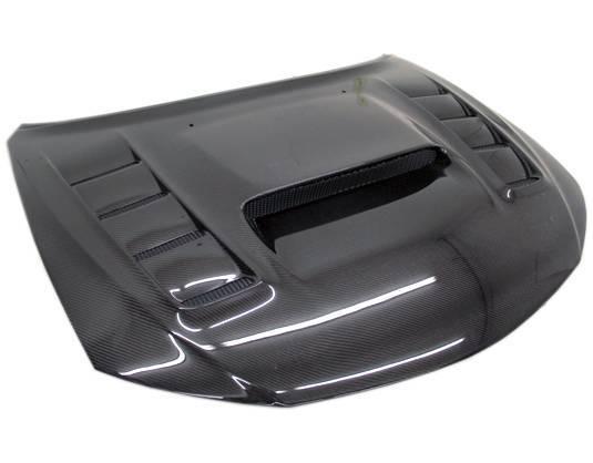VIS Racing - Carbon Fiber Hood VRS Style for Subaru WRX Hatchback & 4DR 08-14
