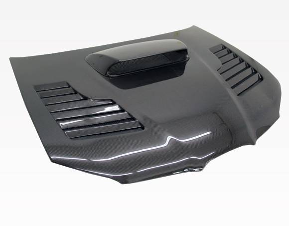 VIS Racing - Carbon Fiber Hood Tracer Style for Subaru WRX 4DR 06-07