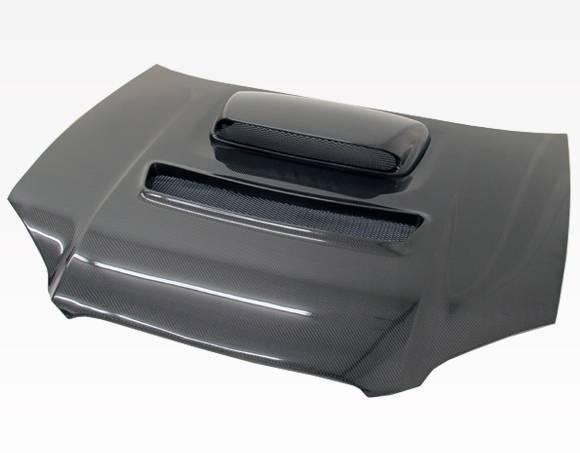 VIS Racing - Carbon Fiber Hood V Line Style for Subaru WRX 4DR 04-05