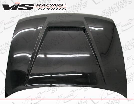 VIS Racing - Carbon Fiber Hood Invader Style for Toyota Corolla 4DR 93-97
