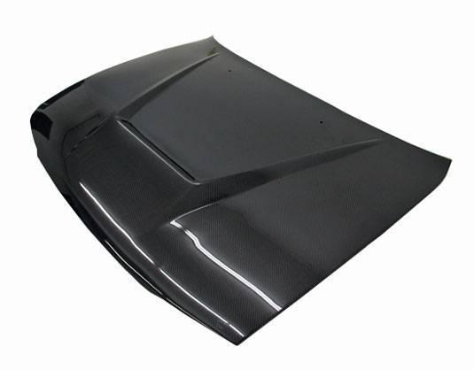 VIS Racing - Carbon Fiber Hood Invader Style for Toyota Corolla 4DR 98-02