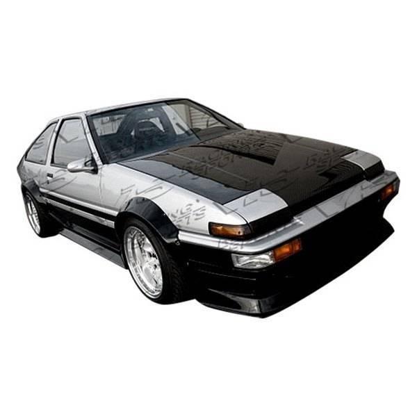 VIS Racing - Carbon Fiber Hood OEM Style for Toyota Corolla  2DR & Hatchback 84-87