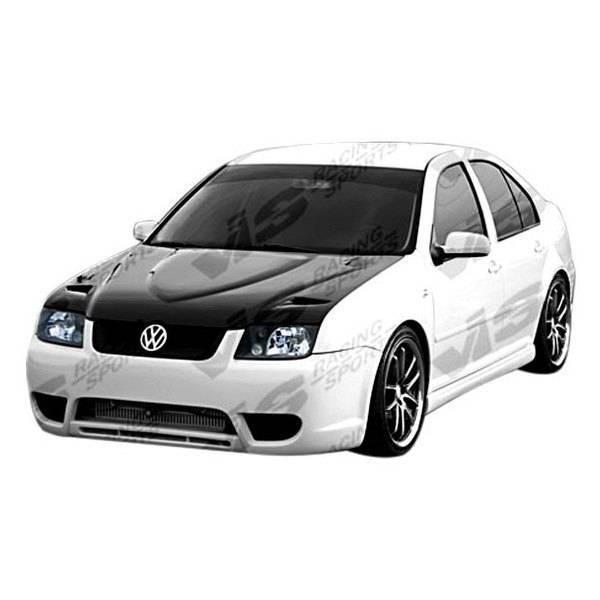 VIS Racing - Carbon Fiber Hood Euro R Style for Volkswagen Jetta 4DR 99-05