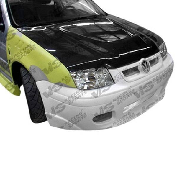 VIS Racing - Carbon Fiber Hood Invader Style for Volkswagen Jetta 4DR 99-05