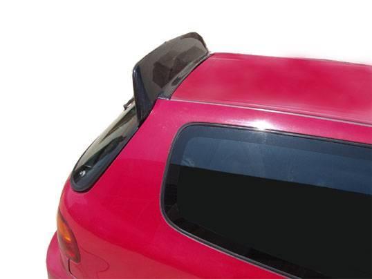 VIS Racing - Carbon Fiber Spoiler Back Street Style for Honda Civic Hatchback 92-95