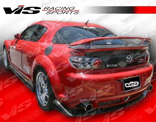 VIS Racing - Carbon Fiber Spoiler Magnum Style for Mazda RX8 2DR 04-08