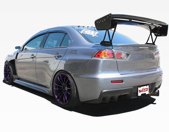 VIS Racing - Carbon Fiber Spoiler VTX Style for Mitsubishi Evo 10 4DR 08-18