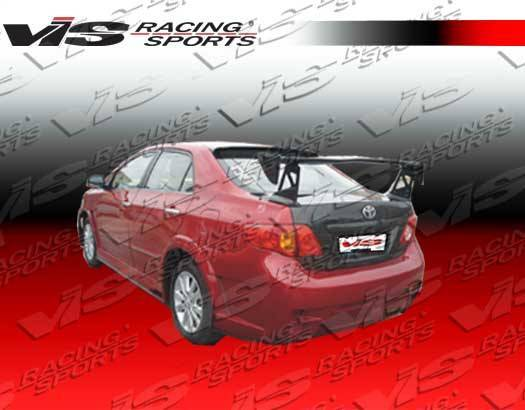VIS Racing - Carbon Fiber Spoiler Techno R 2 Style for Toyota Corolla 4DR 09-09