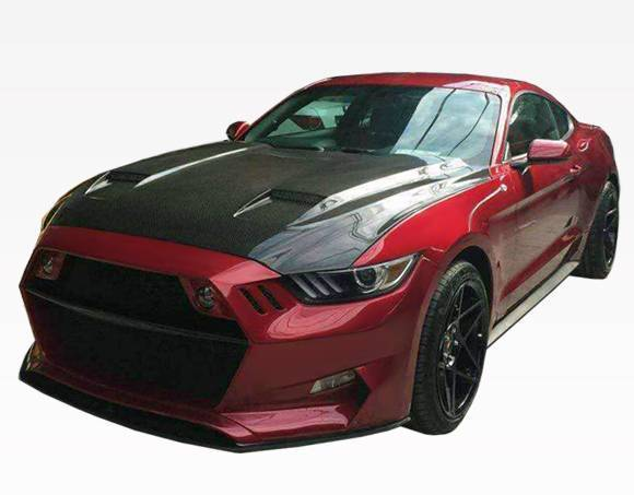VIS Racing - Carbon Fiber Hood MK7 Style for Ford MUSTANG 2DR 15-17
