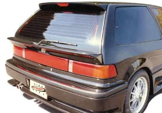 Wings West - 1988-1991 Honda Civic Hatchback Factory Style Rear Window Mid Wing