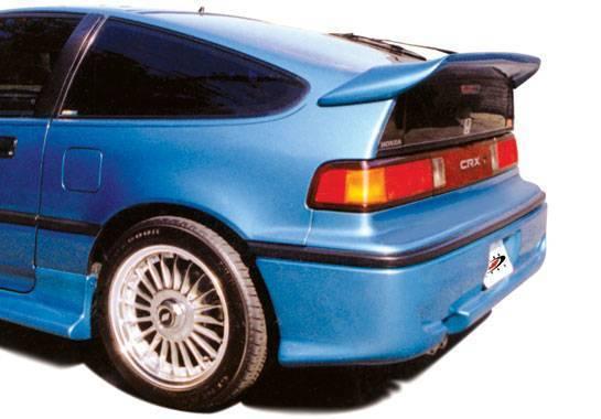 Wings West - 1988-1991 Honda Crx Whaletail Spoiler W/Wiper Hole - No Light