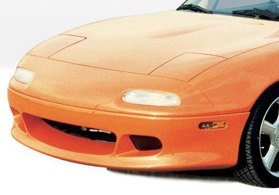 Wings West - 1990-1998 Mazda Miata W-Typ Front Lip Fiberglass