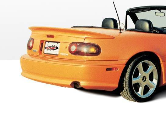 Wings West - 1990-1998 Mazda Miata W-Typ Rear Lip Fiberglass