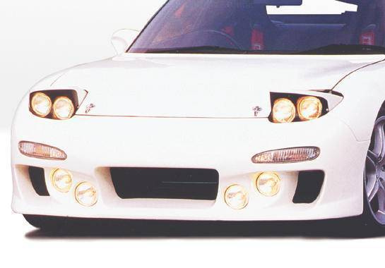 Wings West - 1993-1997 Mazda Rx-7 Knightsport Front Bumper Cover Fiberglass