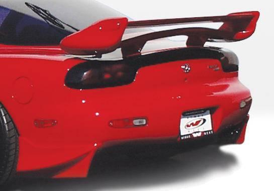 Wings West - 1993-1997 Mazda Rx-7 Aggressor 2Pc Rear Spat Set Fiberglass