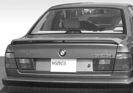 Wings West - 1989-1995 Bmw 5 Series E34 4Dr Low Profile 3 Leg Wing No Light