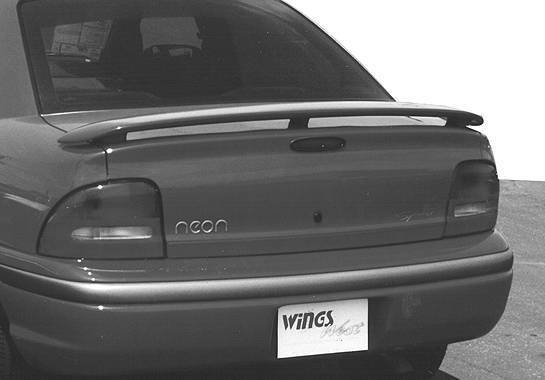 Wings West - 1995-1999 Dodge Neon 2/4Dr California Style 3 Leg Wing No Light