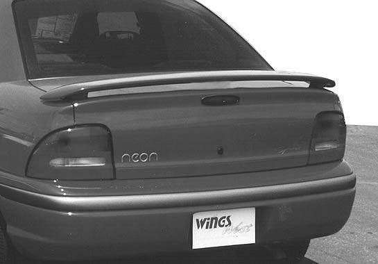Wings West - 1995-1999 Dodge Neon 2/4Dr California Style 2 Leg Wing No Light