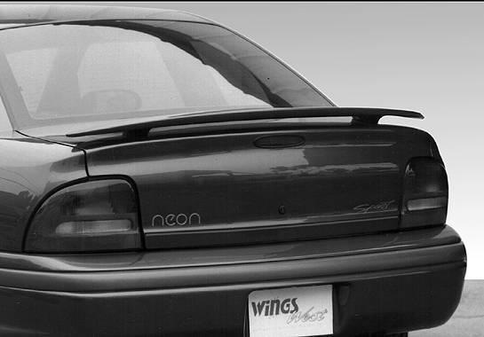 Wings West - 1995-1999 Dodge Neon 2/4Dr Factory Style Wing No Light