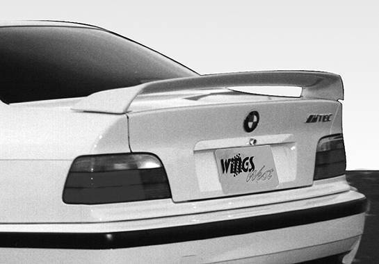 Wings West - 1992-1998 Bmw E36 2/4Dr Curved M3 Style Wing No Light