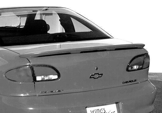 Wings West - 1995-2003 Chevrolet Cavalier 2/4Dr Custom Lip Style Wing No Light