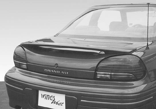 Wings West - 1996-1998 Pontiac Grand Am 2/4Dr. Factory Style Wing No Light