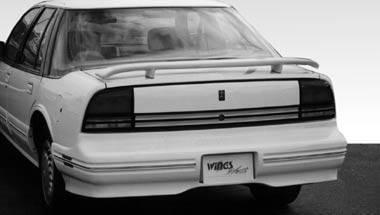 Wings West - 1994-1997 Oldsmobile Cutlass 2 Leg Custom Style Wing No Light