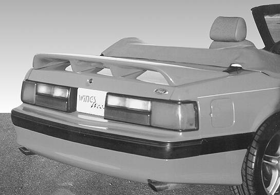 Wings West - 1979-1993 Ford Mustang In Cobrain Style Wing Coupe/Convertible W/ Light Hole