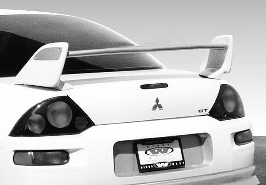 Wings West - 2000-2003 Mitsubishi Eclipse 2000 V-Line Custom Wing No Light