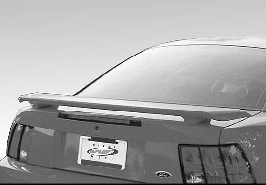 Wings West - 1999-2004 Ford Mustang 2001 Factory Style Wing No Light