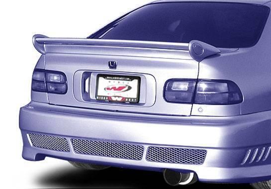Wings West - 1992-1995 Honda Civic Coupe Mini-Me Commando Wing No Light