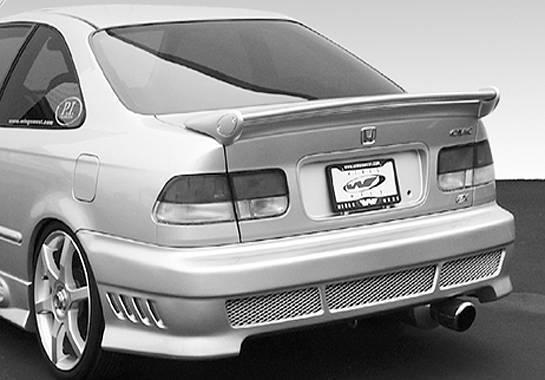 Wings West - 1996-2000 Honda Civic 2Dr Mini-Me Commando Wing No Light