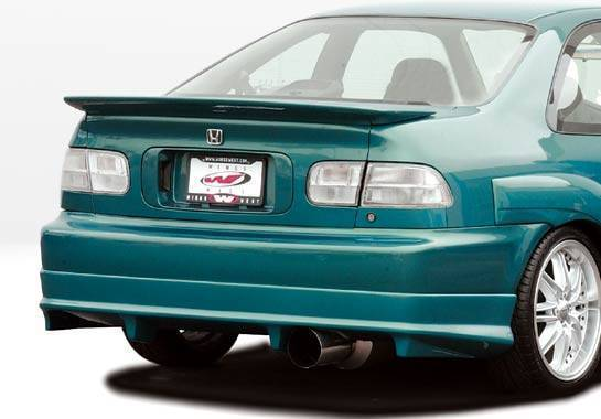 Wings West - 1992-1995 Honda Civic 2Dr Flushmount Whaletail Wing