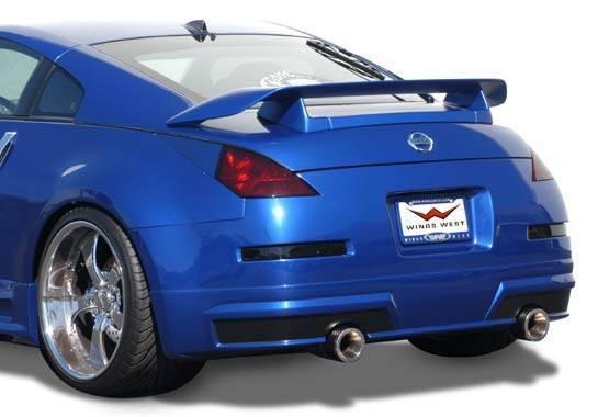 Wings West - 2003-2008 Nissan 350Z Z-Spec 2Pc. Rear Spoiler
