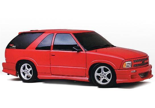 Wings West - 1995-1997 Chevrolet Blazer 4Dr. Custom Style Left Side Skirt