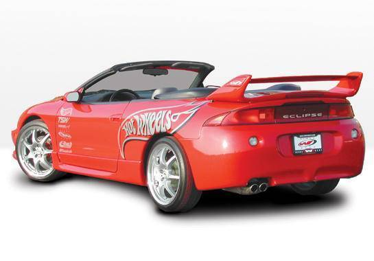 Wings West - 1995-1999 Mitsubishi Eclipse Factory Style 4Pc Side Skirt Set W/ Door Caps Polyurethane
