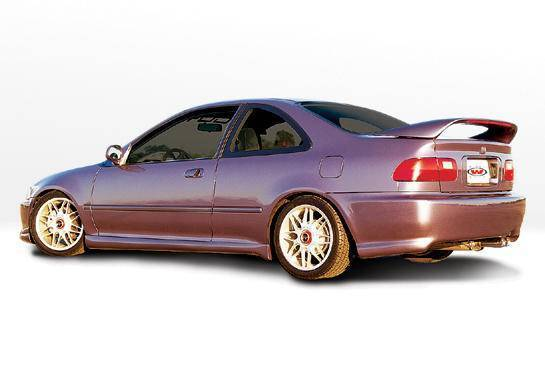 Wings West - 1992-1995 Honda Civic 2Dr Racing Series Right Side Skirt