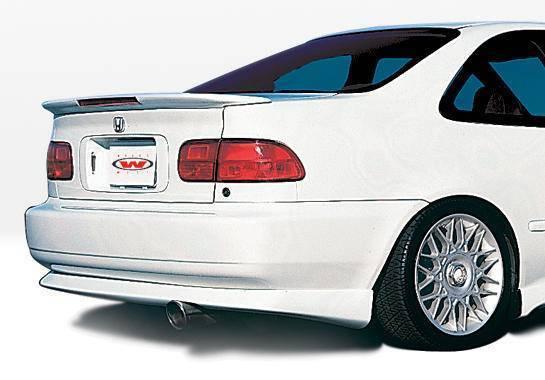 Wings West - 1992-1995 Honda Civic 2Dr Racing Series Rear Lip Polyurethane
