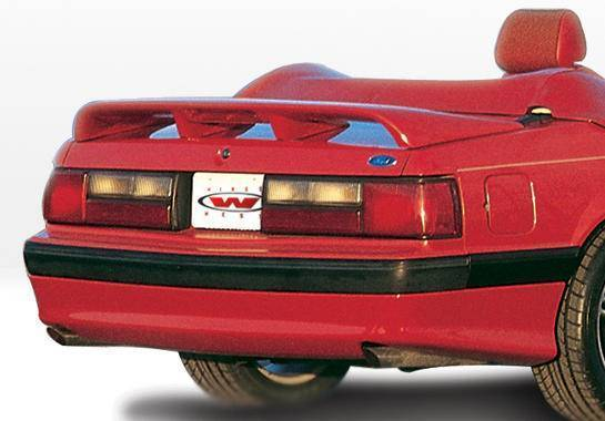 Wings West - 1987-1993 Ford Mustang Lx Cobra Style Rear Lip Polyurethane