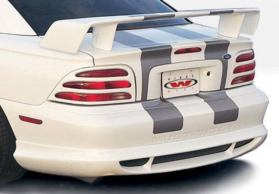 Wings West - 1994-1998 Ford Mustang All Models Custom Style Rear Lip Polyurethane