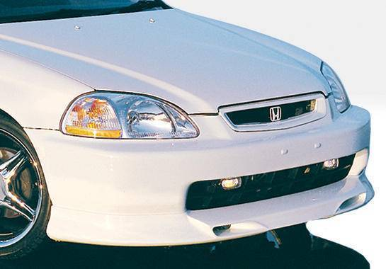 Wings West - 1996-1998 Honda Civic All Models Racing Series Front Lip Polyurethane