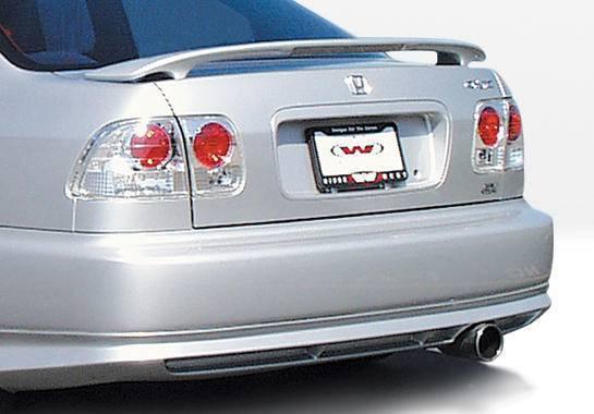 Wings West - 1996-1998 Honda Civic 2Dr/4Dr Racing Series Rear Lip Polyurethane