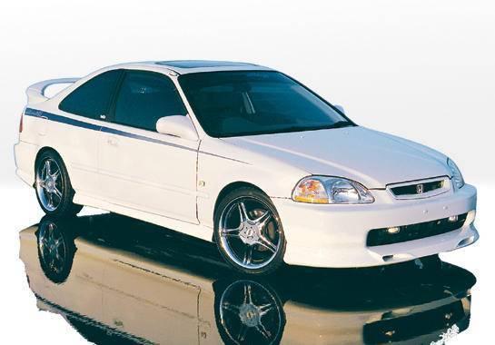 Wings West - 1996-1998 Honda Civic 2Dr Racing Series 4Pc Complete Kit