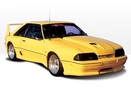 Wings West - 1987-1993 Ford Mustang Lx Dominator Hood Scoop Use W/ Hood Overlay