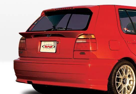 Wings West - 1993-1998 Volkswagen Golf Custom Style Rear Lip