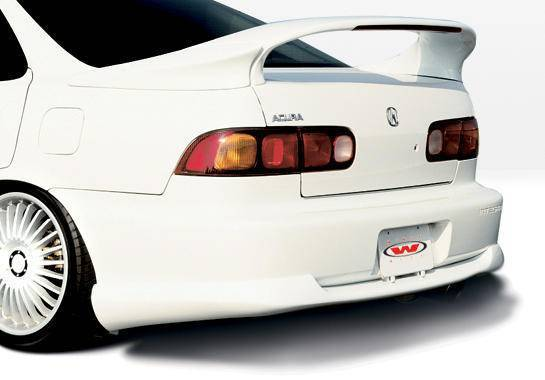 Wings West - 1994-1997 Acura Integra 4Dr Racing Series Rear Lip Polyurethane