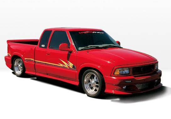 Wings West - 1996-1997 Chevrolet S 10 Sport/Extended 3-Door Custom Full Kit W/Oe Bumper